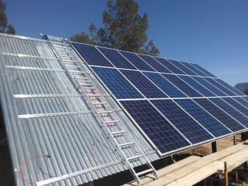 Teruel Solar Panel Installation in progress